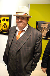 PHIL JUPITUS at an exhibition of artist Paul Karslake's work entitled Ideas & Idols, held at Scream, 34 Bruton Street, London W1 on 21st February 2008.<br />