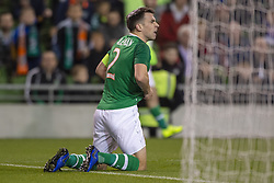 November 15, 2018 - Dublin, Ireland - Seamus Coleman of Ireland reacts during the International Friendly match between Republic of Ireland and Northern Ireland at Aviva Stadium in Dublin, Ireland on November 15, 2018  (Credit Image: © Andrew Surma/NurPhoto via ZUMA Press)