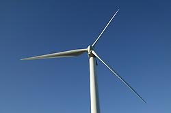 Wind turbine blades at Windfarm north of Whitehaven; Cumbria,