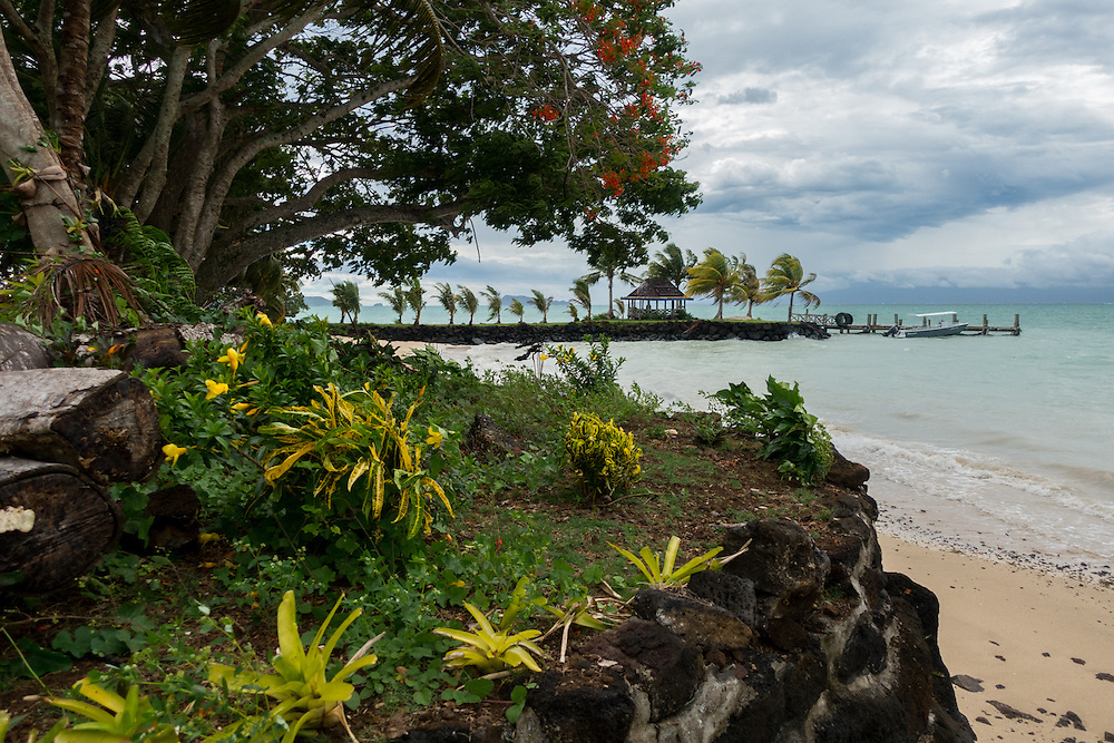 Apia is the largest city and capital of Samoa.  Apia is a tropical rainforest climate with a consistent temperature throughout the year.  The average temperature is about 80 degree fahrenheit.