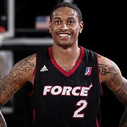 Sioux Falls Skyforce Forward GREG WHITTINGTON (2) smile prior to taking a free throw shots in the second half of a NBA D-league regular season basketball game between the Delaware 87ers and the Sioux Falls Skyforce Friday, Mar. 25, 2016, at The Bob Carpenter Sports Convocation Center in Newark, DEL.