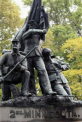 July 2007:2nd Minnesota Volunteer Infantry. Monuments of Valor at the Chickamauga National Park in Georgia. There are hundreds of memorials and markers throughout the park.  They tell the story of the battle, show positioning, and honor those who were engaged in the battle. Attractions near Chattanooga Tennessee. Point Park, National Park Service - Lookout Mountain, TN.