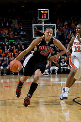 Maryland guard/forward Marissa Coleman (25) in action against Virginia.  The Virginia Cavaliers women's basketball team faced the #4 ranked Maryland Terrapins at the John Paul Jones Arena in Charlottesville, VA on January 18, 2008.