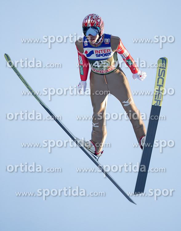 03.01.2017, Bergiselschanze, Innsbruck, AUT, FIS Weltcup Ski Sprung, Vierschanzentournee, Innsbruck, Qualifikation, im Bild Taku Takeuchi (JPN) // Taku Takeuchi of Japan during his Qualification Jump for the Four Hills Tournament of FIS Ski Jumping World Cup at the Bergiselschanze in Innsbruck, Austria on 2017/01/03. EXPA Pictures © 2017, PhotoCredit: EXPA/ Jakob Gruber