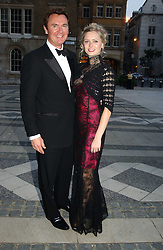 WAYNE SHARPE and ANOUSHKA DE GEORGIOU at a tribute to Luciano Pavarotti in aid of the British Red Cross held at The Guildhall, City of London on 6th June 2005<br />NON EXCLUSIVE - WORLD RIGHTS