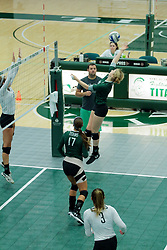 26 August 2017:  Claire Bergman during the green-white scrimmage of the Illinois Wesleyan Titans in Shirk Center, Bloomington IL
