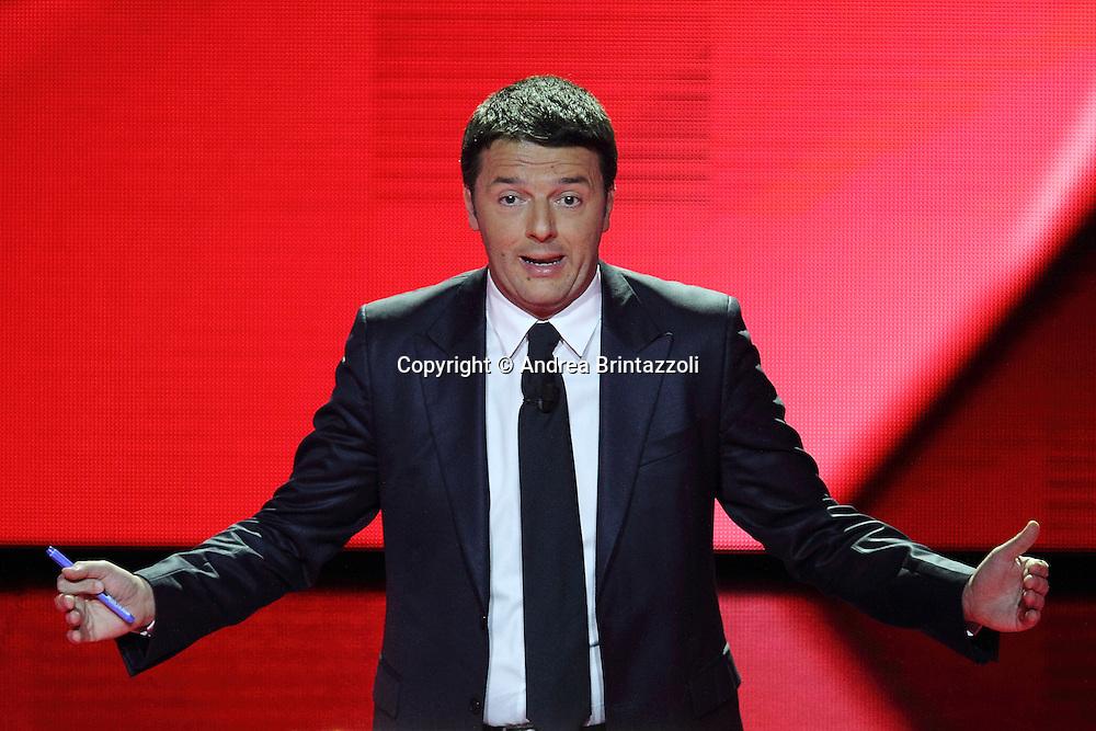 Milano, 29 Novembre 2013. Il confronto tra i candidati PD.<br /> Matteo Renzi.