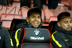 Sergio Aguero of Manchester City starts on the bench - Mandatory by-line: Jason Brown/JMP - 13/02/2017 - FOOTBALL - Vitality Stadium - Bournemouth, England - Bournemouth v Manchester City - Premier League