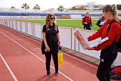 MARBELLA, SPAIN - Tuesday, March 5, 2019: Wales' head of team operations Amanda Smith after an international friendly match between Wales and Republic of Ireland at the Estadio Municipal de Marbella. (Pic by David Rawcliffe/Propaganda)