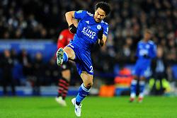 Shinji Okazaki of Leicester City in action- Mandatory by-line: Nizaam Jones/JMP- 27/11/2018- FOOTBALL - King Power Stadium- Leicester, England - Leicester City v Southampton - Carabao Cup