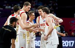 Players of Russia during basketball match between National Teams of Russia and Serbia at Day 16 in Semifinal of the FIBA EuroBasket 2017 at Sinan Erdem Dome in Istanbul, Turkey on September 15, 2017. Photo by Vid Ponikvar / Sportida