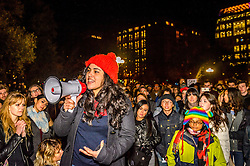 November 11, 2016 - New York, New York, United States - In the third day since Donald Trump was elected president, Anti-Trump protests have erupted for a third night in a row in New York. New Yorkers gathered in Washington Square Park for a ''love rally'' and moved up Sixth Avenue to Union Square. Some marched through Midtown to protest at Trump Tower. (Credit Image: © Erik Mcgregor/Pacific Press via ZUMA Wire)