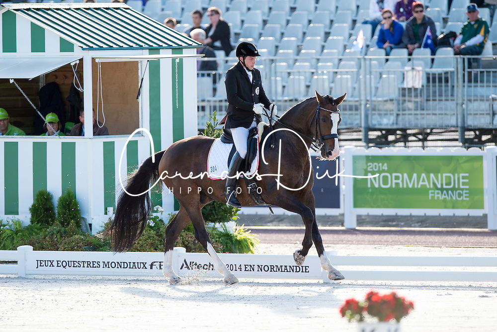 Bernd Brugger, (AUT), Denigo - Team Competition Grade III Para Dressage - Alltech FEI World Equestrian Games&trade; 2014 - Normandy, France.<br /> &copy; Hippo Foto Team - Jon Stroud <br /> 25/06/14