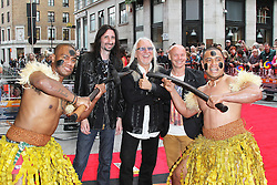 © Licensed to London News Pictures. 01/07/2013. London, UK. Uriah Heep,  Bula Quo UK film premiere, Odeon West End cinema Leicester Square, London. Photo credit: Richard Goldschmidt/LNP