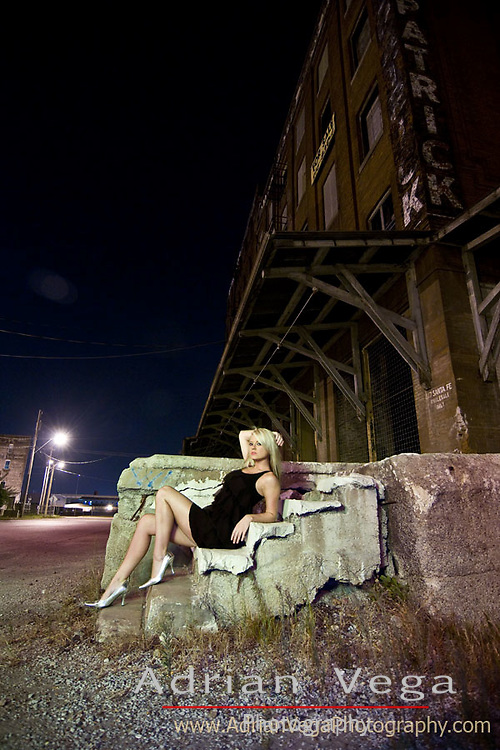 night photography and urban decay.