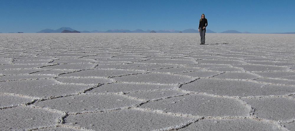 Sophie Carr on Salar de Uyuni, Bolivia