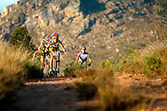 VILLIERSDORP, SOUTH AFRICA - Burry Stander climbs into  the Theewaterskloof Nature Reserve during stage three of the Absa Cape Epic Mountain Bike Stage Race held between Villiersdorp and Greyton on the 24 March 2009 in the Western Cape, South Africa..Photo by Gary Perkin /SPORTZPICS