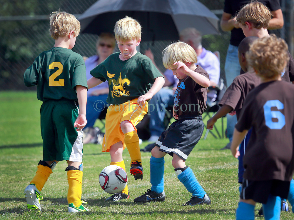 05 October 2013. Carrolton Boosters Soccer. New Orleans, Louisiana. <br /> U8 Jesters v Gorillas<br /> Photo; Charlie Varley