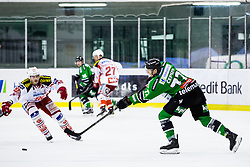 17.02.2015, Hala Tivoli, Ljubljana, SLO, EBEL, HDD Telemach Olimpija Ljubljana vs EC KAC, 4. Qualification Round, in picture Kristijan Cepon (HDD Telemach Olimpija, #72) during the Erste Bank Icehockey League 4. Qualification Round between HDD Telemach Olimpija Ljubljana and EC KAC at the Hala Tivoli, Ljubljana, Slovenia on 2015/02/17. Photo by Morgan Kristan / Sportida