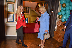HRH The Duchess of Cornwall at the launch of the Fortnum & Mason Christmas & Other Winter Feasts Cook Book by Tom Parker Bowles held at Fortnum & Mason, 181 Piccadilly, London, England. 17 October 2018.