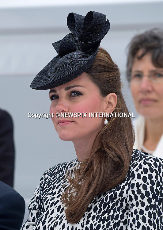 KATE, DUCHESS OF CAMBRIDGE<br /> named a Princess Cruises' ship &quot;Royal Princess&quot;, in a ceremony at Ocean Terminal, Southampton_13/06/2013<br /> This is Kate's last official engagement before the birth of her baby. <br /> Mandatory Credit Photo: &copy;Dias/NEWSPIX INTERNATIONAL<br /> <br /> **ALL FEES PAYABLE TO: &quot;NEWSPIX INTERNATIONAL&quot;**<br /> <br /> IMMEDIATE CONFIRMATION OF USAGE REQUIRED:<br /> Newspix International, 31 Chinnery Hill, Bishop's Stortford, ENGLAND CM23 3PS<br /> Tel:+441279 324672  ; Fax: +441279656877<br /> Mobile:  07775681153<br /> e-mail: info@newspixinternational.co.uk
