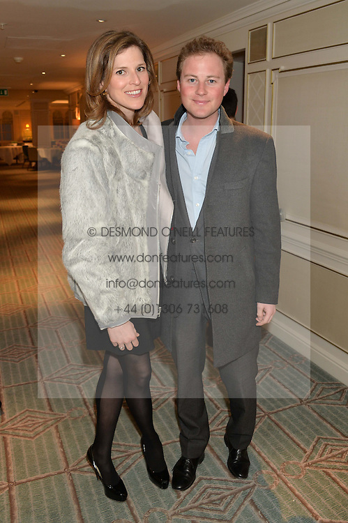 GUY PELLY and ELIZABETH WILSON at the launch of Mrs Alice in Her Palace - a fashion retail website, held at Fortnum & Mason, Piccadilly, London on 27th March 2014.