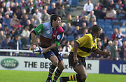 Peter Spurrier Sports  Photo. .Tel 44 (0) 7973 819 551.Photo Peter Spurrier.Quins v Wasps 22-9-01.Nick Greenwood..[Mandatory Credit, Peter Spurrier/ Intersport Images][Mandatory Credit, Peter Spurrier/ Intersport Images]