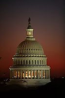 US Capitol Dome at sunset