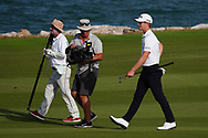 Brandon Stone (RSA) on the 18th during Round 4 of the Oman Open 2020 at the Al Mouj Golf Club, Muscat, Oman . 01/03/2020<br /> Picture: Golffile   Thos Caffrey<br /> <br /> <br /> All photo usage must carry mandatory copyright credit (© Golffile   Thos Caffrey)
