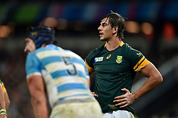 Eben Etzebeth of South Africa - Mandatory byline: Patrick Khachfe/JMP - 07966 386802 - 30/10/2015 - RUGBY UNION - The Stadium, Queen Elizabeth Olympic Park - London, England - South Africa v Argentina - Rugby World Cup 2015 Bronze Final.