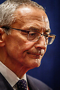 Campaign manager for Hillary Clinton, John Podesta in the spin room after the Presidential Debate in St. Louis between Donald J. Trump and Hillary Clinton.
