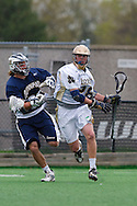 May 1, 2009:   #32 Tuthill, Bailey of Quinnipiac and #28Zach Brenneman of Notre Dame  in action during the NCAA Lacrosse game between Notre Dame and Quinnipiac at GWLL Tournament in Birmingham, Michigan. (Credit Image: Rick Osentoski/Cal Sport Media)