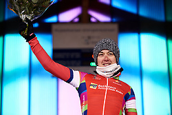 Christine Majerus (LUX) is awarded the combatively prize at Healthy Ageing Tour 2019 - Stage 3, a 124 km road race starting and finishing in Musselkanaal, Netherlands on April 12, 2019. Photo by Sean Robinson/velofocus.com
