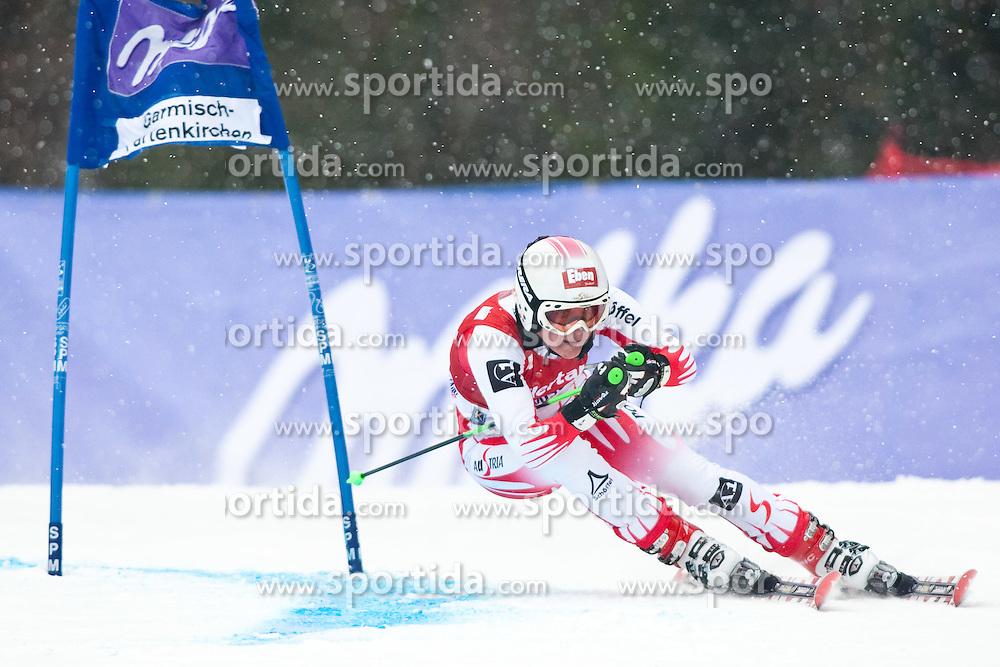 11.03.2010, Kandahar Strecke Damen, Garmisch Partenkirchen, GER, FIS Worldcup Alpin Ski, Garmisch, Lady Giant Slalom, im Bild Fischbacher Andrea, ( AUT, #19 ), Ski Atomic, EXPA Pictures © 2010, PhotoCredit: EXPA/ J. Groder /SPORTIDA PHOTO AGENCY