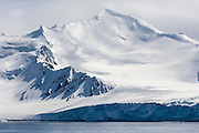Snow covered mountain, Half Moon Bay, Antarctic Peninsula