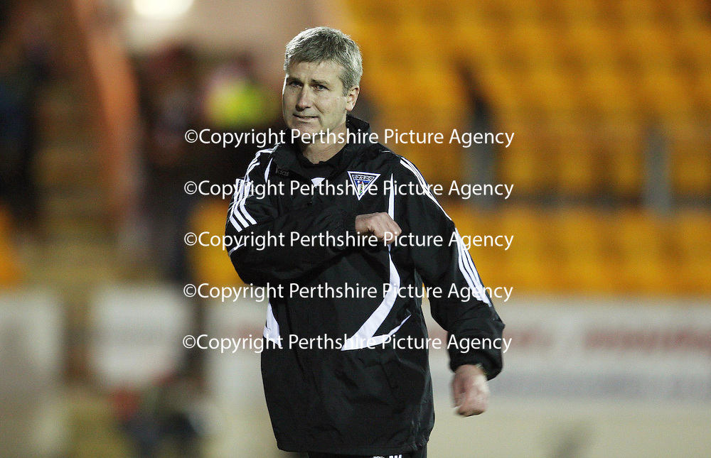 St Johnstone v Dunfermline....10.11.07<br /> Stephen Kenny reacts at full time<br /> Picture by Graeme Hart.<br /> Copyright Perthshire Picture Agency<br /> Tel: 01738 623350  Mobile: 07990 594431