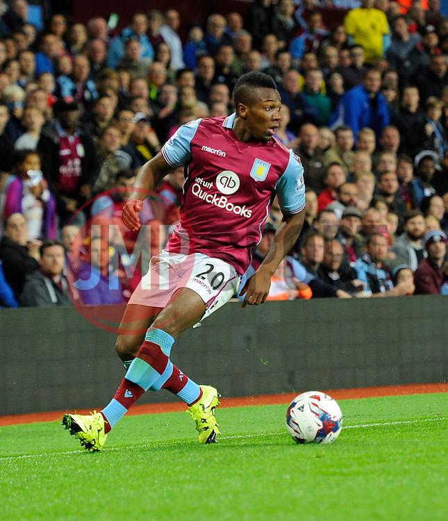 Adama Traore of Aston Villa  - Mandatory byline: Joe Meredith/JMP - 07966386802 - 25/08/2015 - FOOTBALL - Villa Park -Birmingham,England - Aston Villa v Notts County - Capital One Cup - Second Round