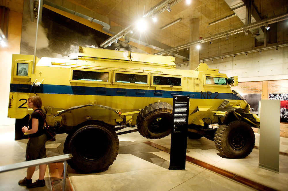 Caspir armoured (armored) car at the Apartheid Museum.  Johannesburg, South Africa.