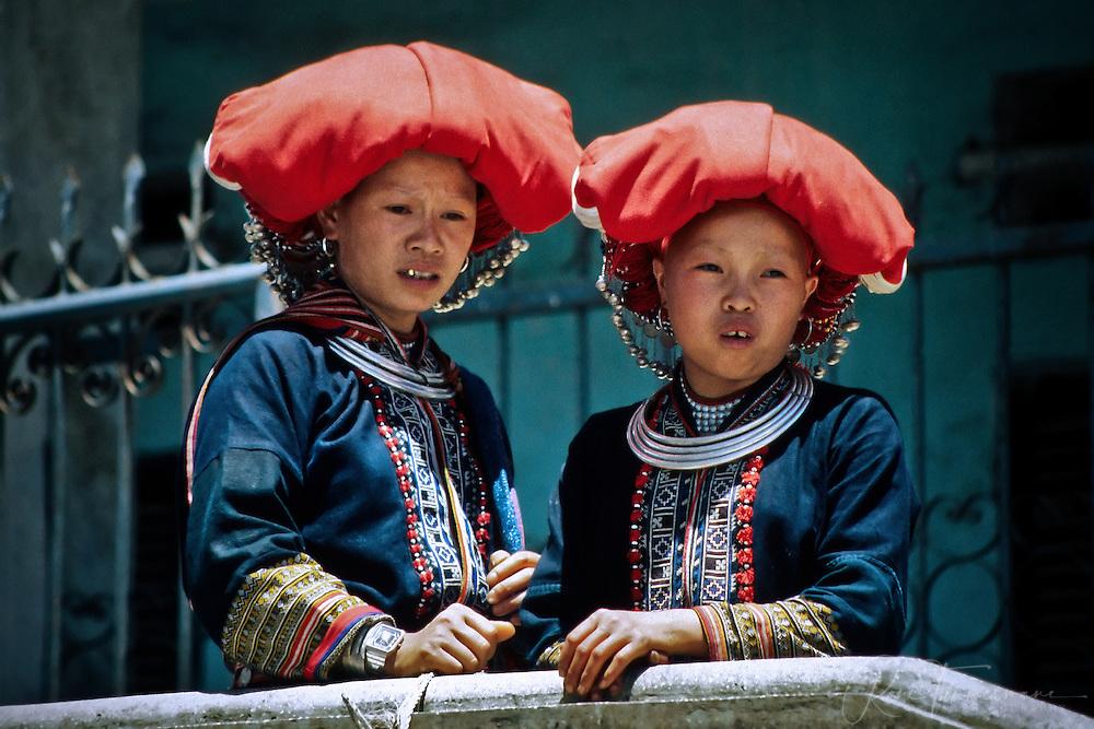 Red Zao tribe women in Sapa.