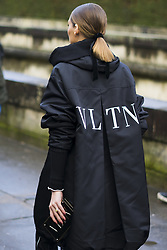 March 4, 2018 - Paris, France - Olivia Palermo, wearing black Valentino coat and black pants, is seen in the streets of Paris before the Valentino show during Paris Fashion Week Womenswear Fall/Winter 2018/2019 on March 4, 2018 in Paris, France. (Credit Image: © Nataliya Petrova/NurPhoto via ZUMA Press)