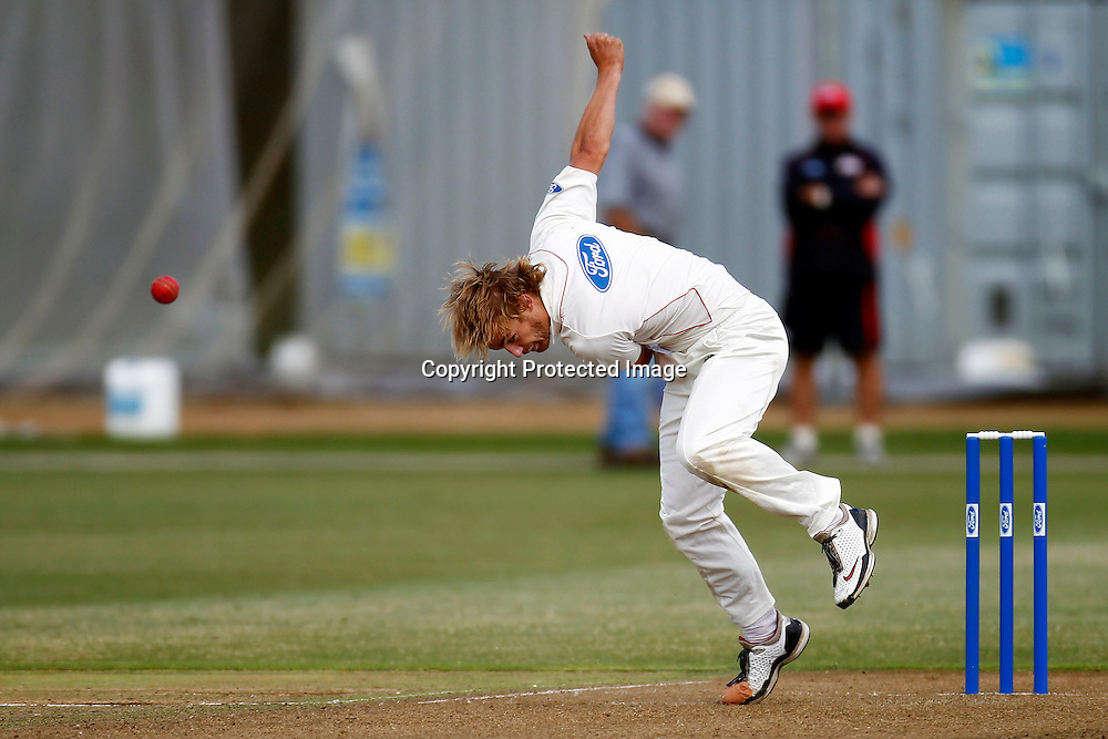 William Lonsdale, Plunket shield cricket. Auckland Aces v Canterbury Wizards. 4 Day domestic cricket. Colin Maiden Park, Auckland. 26 March 2012. Photo: William Booth/photosport.co.nz
