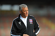 Carlisle Utd manager Keith Curle before the Sky Bet League 2 match between Exeter City and Carlisle United at St James' Park, Exeter, England on 12 March 2016. Photo by Graham Hunt.