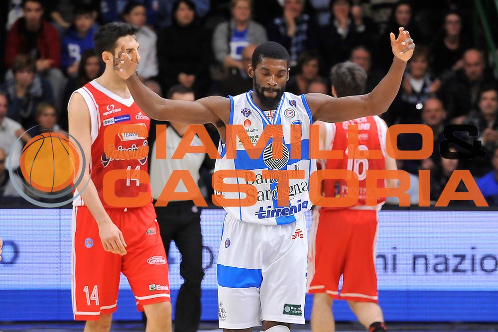 DESCRIZIONE : Campionato 2014/15 Dinamo Banco di Sardegna Sassari - Grissin Bon Reggio Emilia<br /> GIOCATORE : Shane Lawal<br /> CATEGORIA : Esultanza Ritratto<br /> SQUADRA : Dinamo Banco di Sardegna Sassari<br /> EVENTO : LegaBasket Serie A Beko 2014/2015<br /> GARA : Dinamo Banco di Sardegna Sassari - Grissin Bon Reggio Emilia<br /> DATA : 22/12/2014<br /> SPORT : Pallacanestro <br /> AUTORE : Agenzia Ciamillo-Castoria / Luigi Canu<br /> Galleria : LegaBasket Serie A Beko 2014/2015<br /> Fotonotizia : Campionato 2014/15 Dinamo Banco di Sardegna Sassari - Grissin Bon Reggio Emilia<br /> Predefinita :