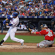 Lucas Duda, New York Mets, batting during the New York Mets Vs Washington Nationals. MLB regular season baseball game at Citi Field, Queens, New York. USA. 1st August 2015. (Tim Clayton for New York Daily News)