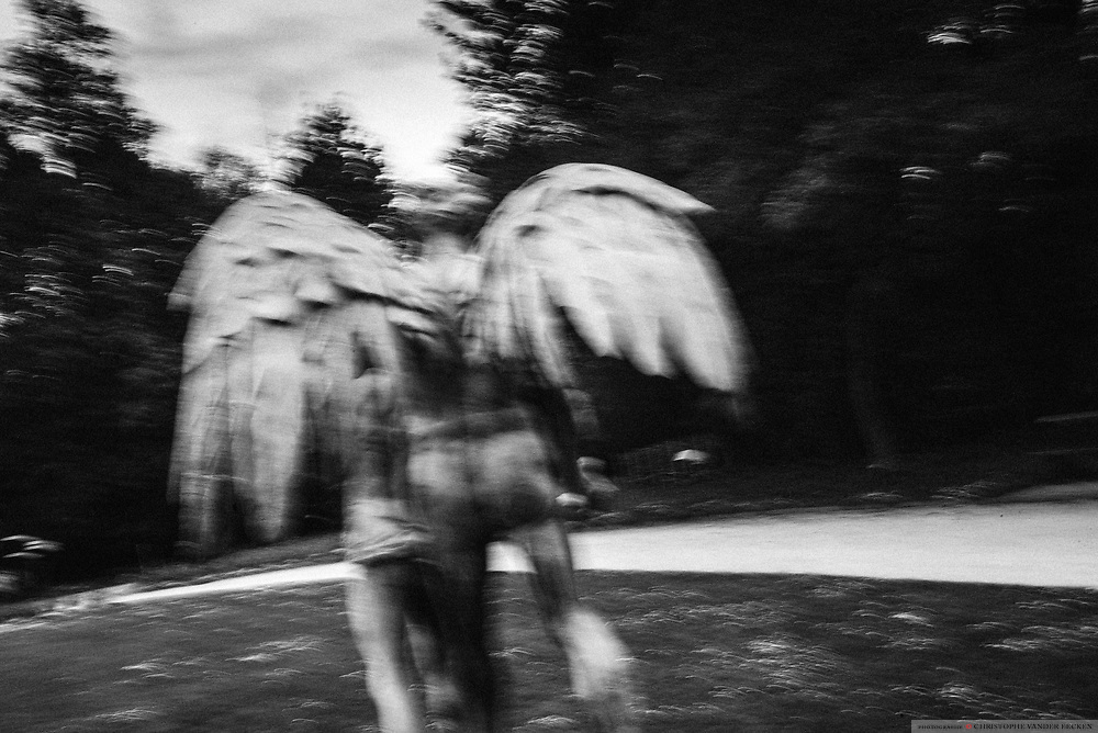Meise, Belgium, 30 apr 2017, Angel in the botanical garden