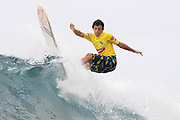 November 1st 2010: Edourd Delpero of France during the trails for the ASP World Longboard Championship at Makaha Oahu-Hawaii. Photo by Matt Roberts/mattrIMAGES.com.au