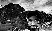 A young farmgirl in Vang Vieng, Laos.