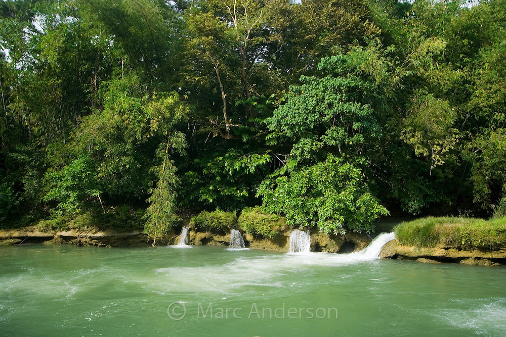 Small cascades on the Loboc River, Bohol, Philippines