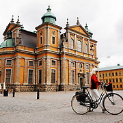 Kalmar Cathedral, built in the 1700's,  is one of the few unaltered buildings from Sweden's period as a great power. The baroque altar was designed in 1704 by Nikodemus Tessin, the younger.  Family coat of arm linked to a great battles at sea during the second half of the 17th century are displayed in the church.<br /> Photography by Jose More