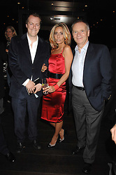Left to right, TOM PARKER-BOWLES, TARA ARCHER and LORD ARCHER at the opening of Marco the new Marco Pierre White restaurant at Stamford Bridge, Fulham Road, London on 25th September 2007.<br /><br />NON EXCLUSIVE - WORLD RIGHTS